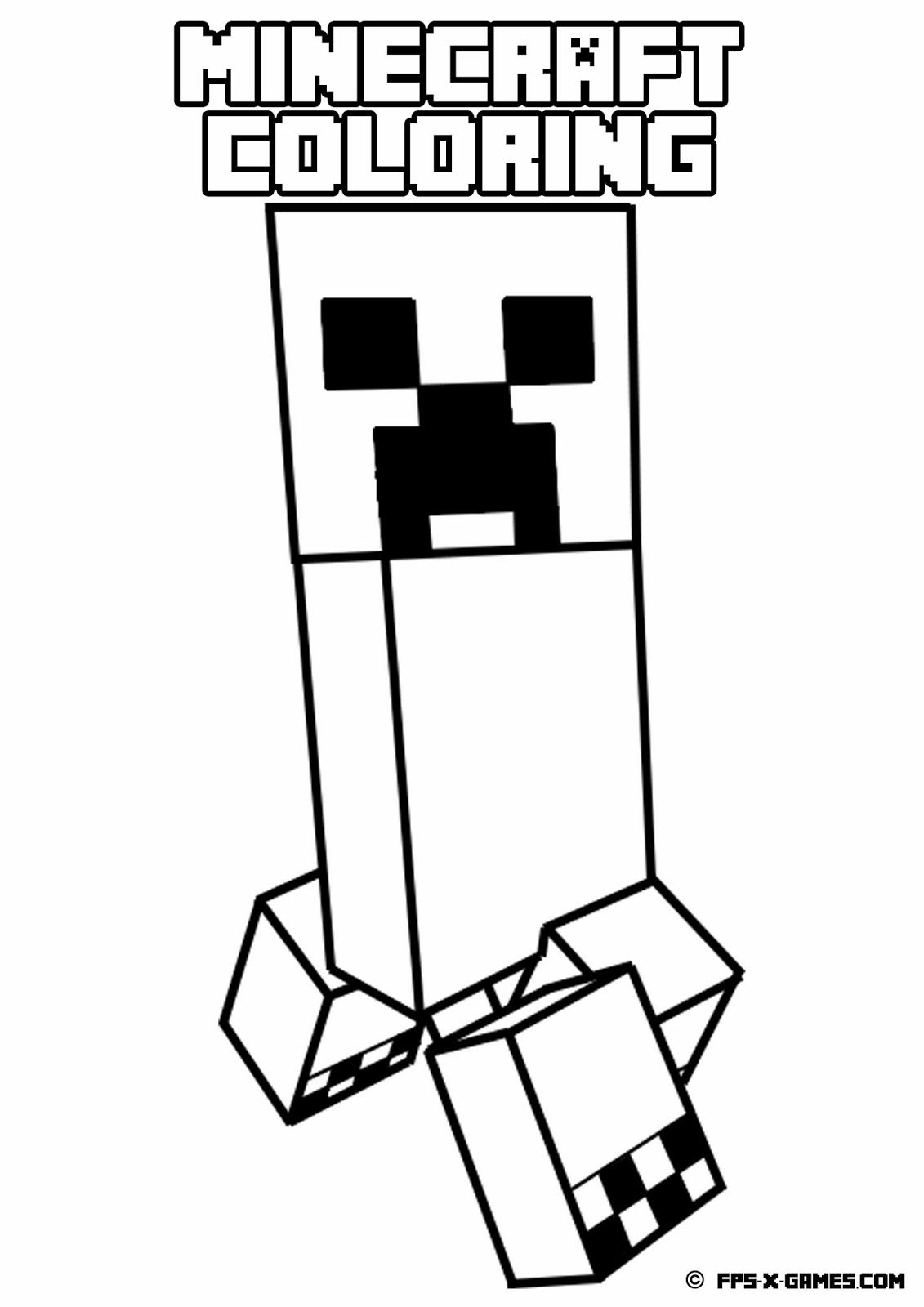 minecraft coloring pages cake - photo#11
