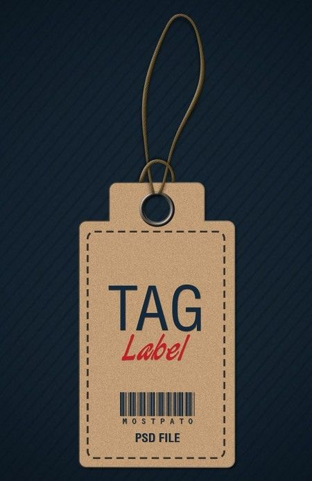 Brown-Clothing-Hang-Tag-Psd.Jpg (450×694) | Hangtag | Pinterest