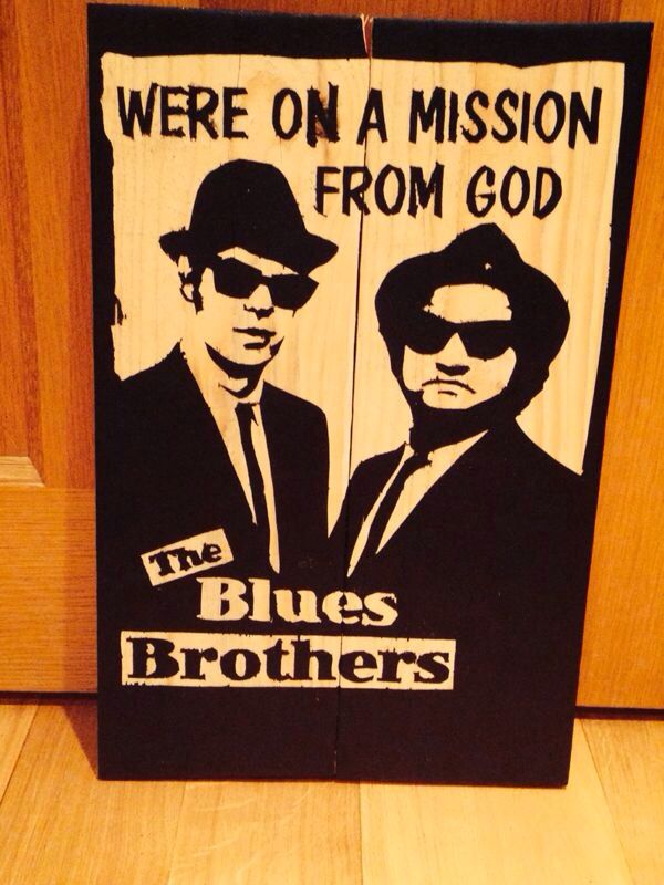 The Blues Brothers Pallet Wall Art If you would like to purchase ...