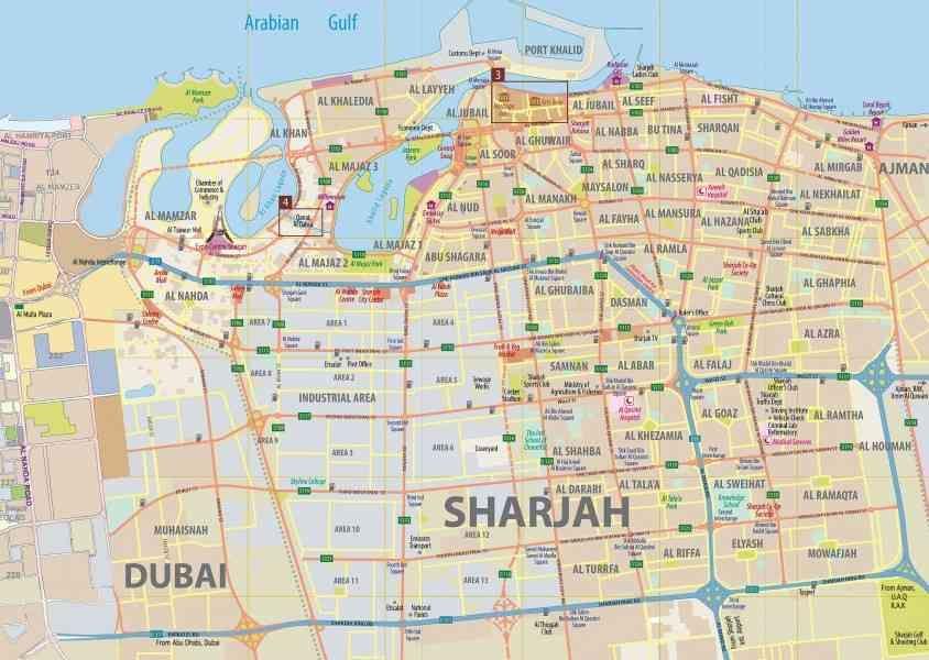 Шарджа и дубай на карте цены на квартиры прага