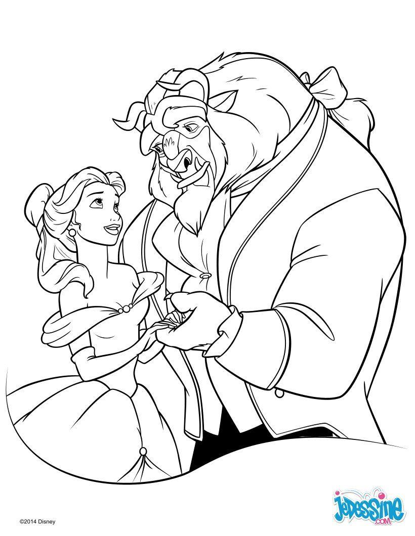 Un coloriage sur le conte Disney de la Belle et la Bête avec ici la ...