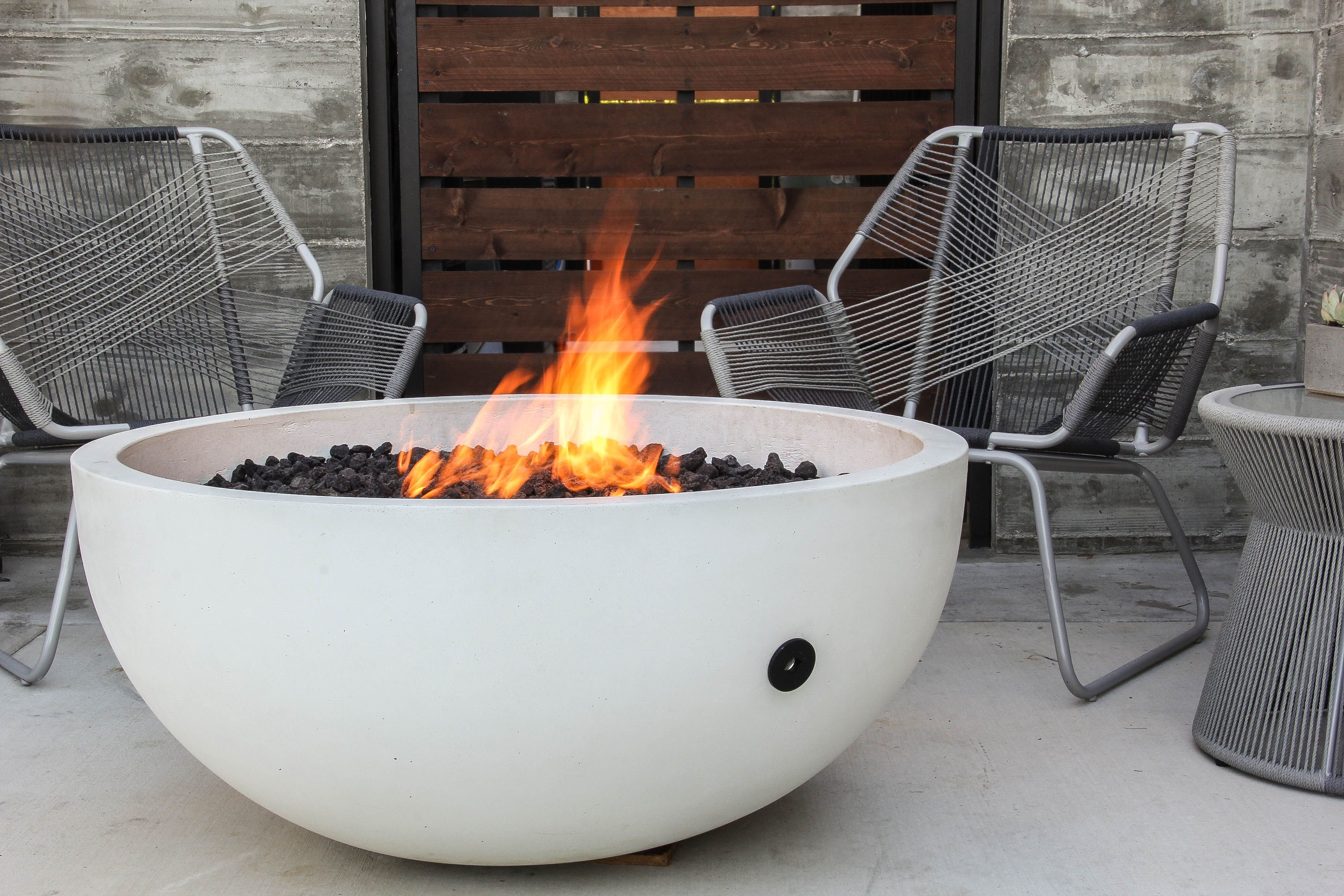 Ember Fire Bowl Concrete Fire Pits Fire Pit Fire Pit Materials