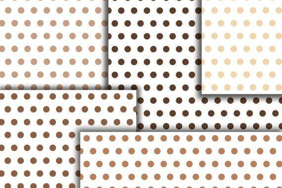 Polka dot brown digital paper  Dotted milk chocolate