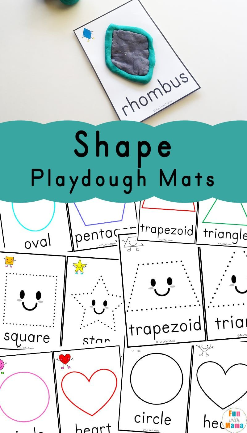Shapes Playdough Mats | Preschool/Kindergarten Worksheets ...