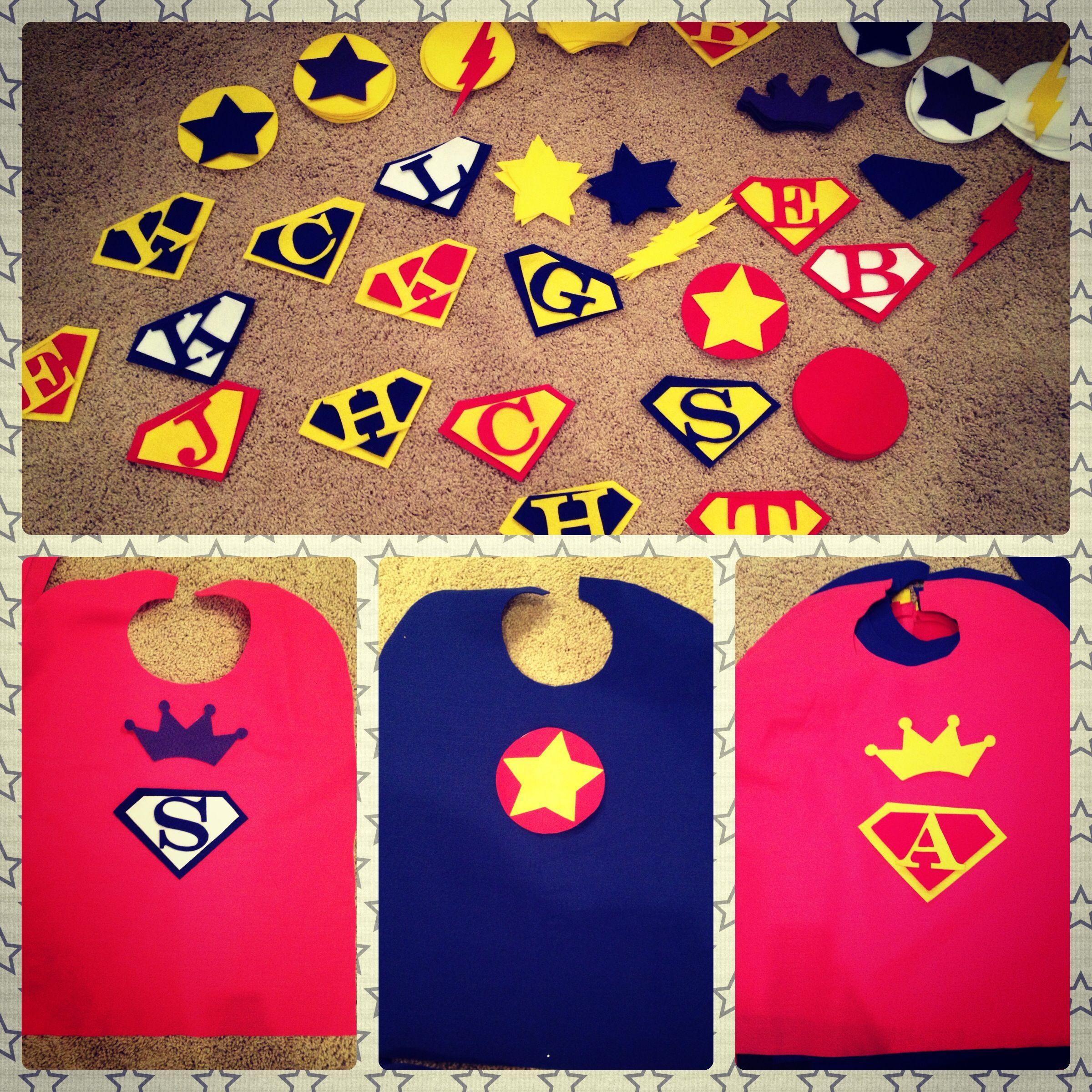 Customizable felt capes for each kid
