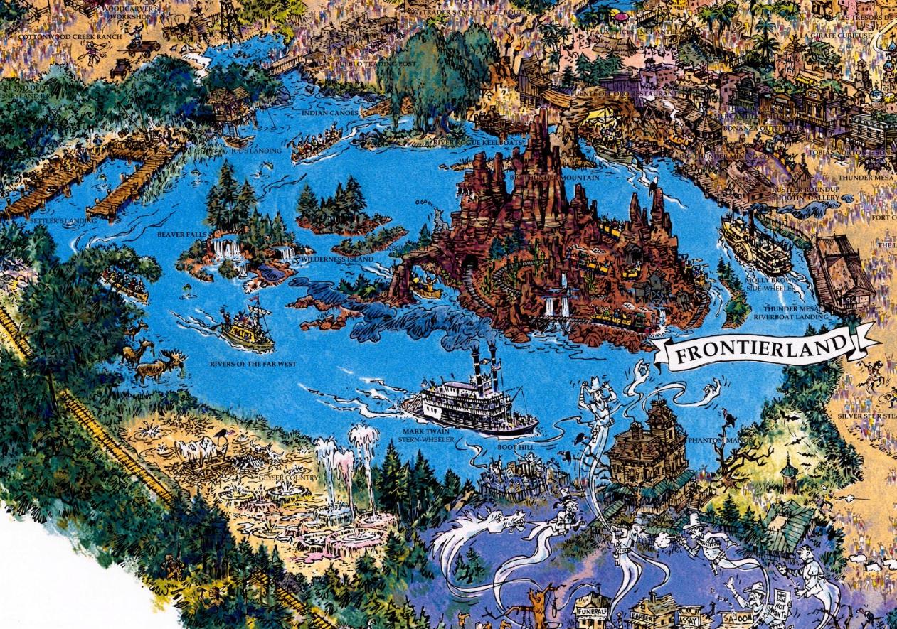 92 Disneyland Paris map