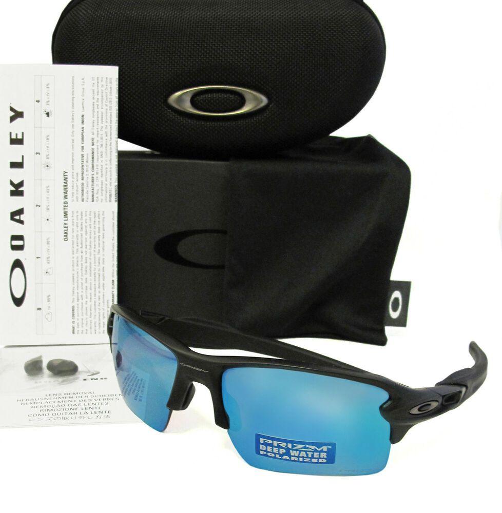 ddccf720864 OAKLEY Flak 2.0 XL Matte Black   Deep Prizm Water Polarized Sunglasses  OO9188-58