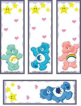 Care Bear Booksmarks Party Ideas