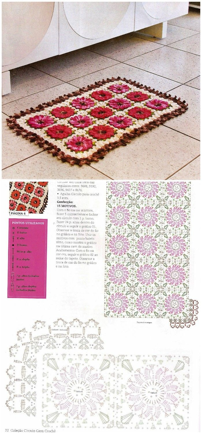 Gorgeous Crochet Rug Patterns – Free Patterns | Crochet patrones ...