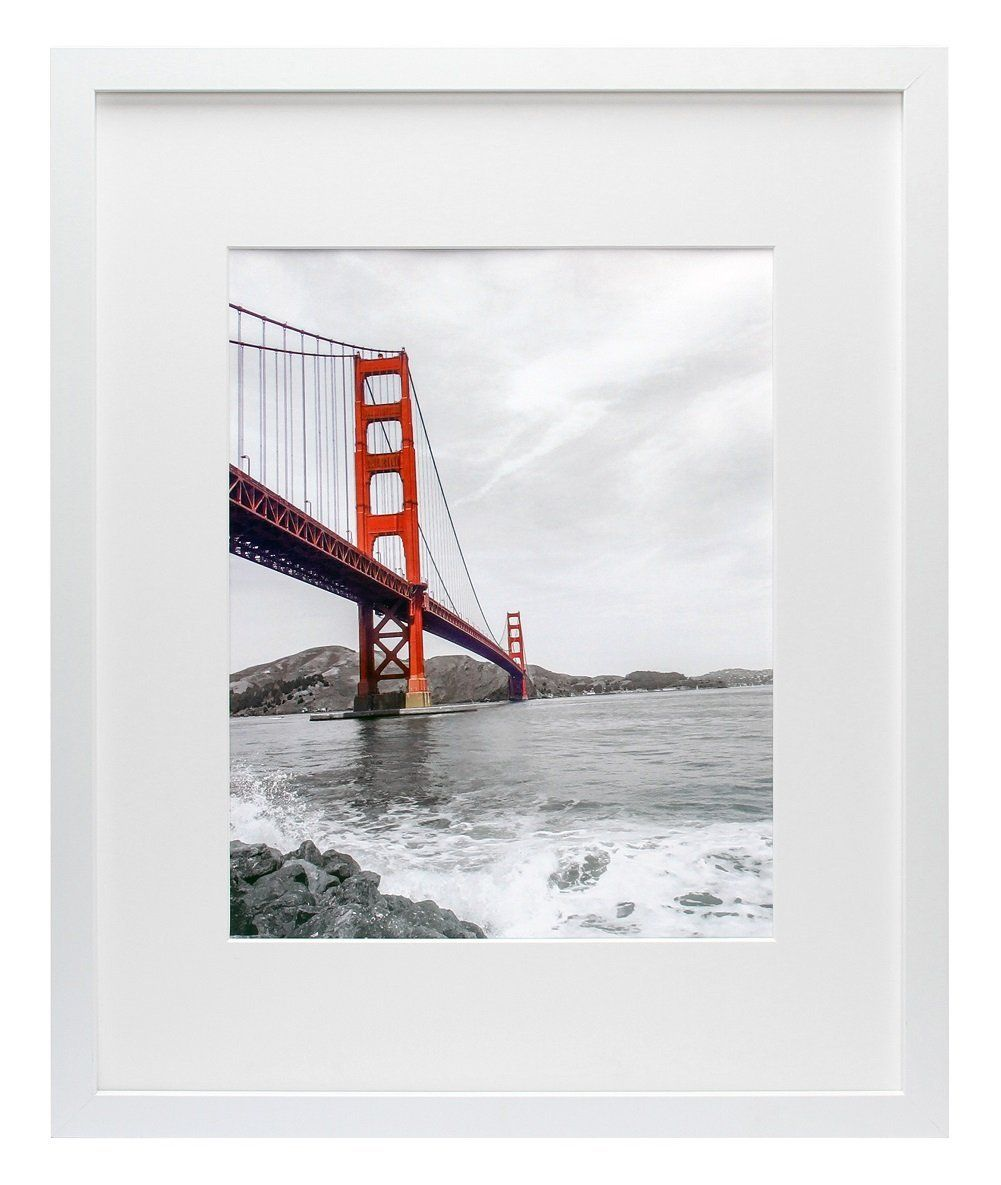 Frametory, 16x20 White Picture Frame - Made to Display Pictures ...