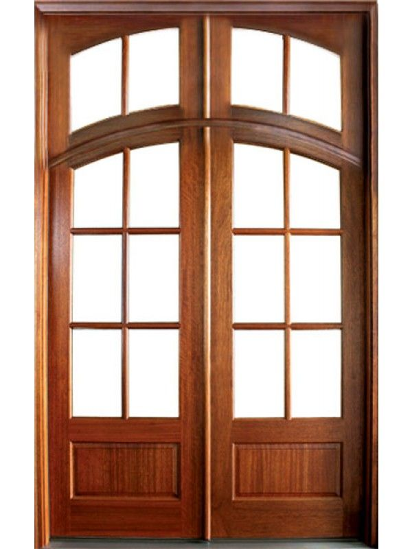 Mahogany Tiffany Tdl 6 Lite Double Door Arch Rec Transom Double Doors Doors French Doors Patio