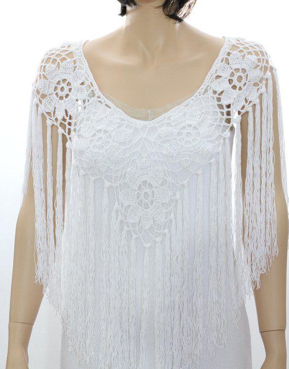 Black Shawl Crocheted Shawl Wedding Wrap Wedding shawls Bridal Shrug ...