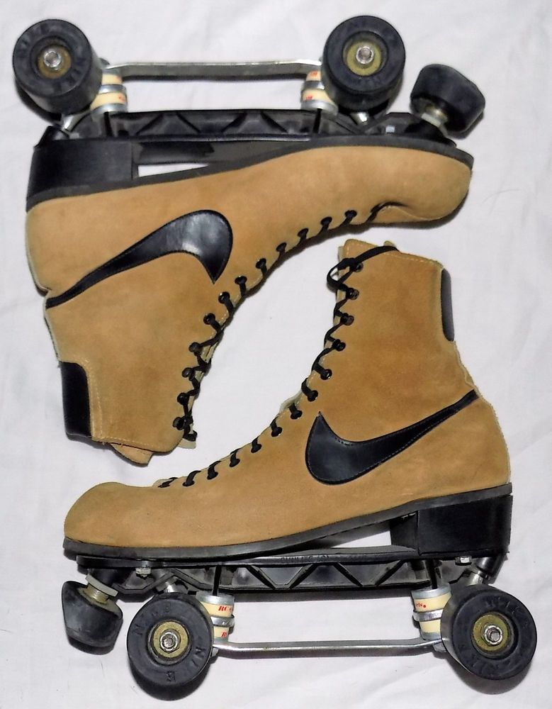 Vintage 80s Nike Sunlite Suede Leather Roller Skates Mens 11 Roller Skates Suede Leather Roller