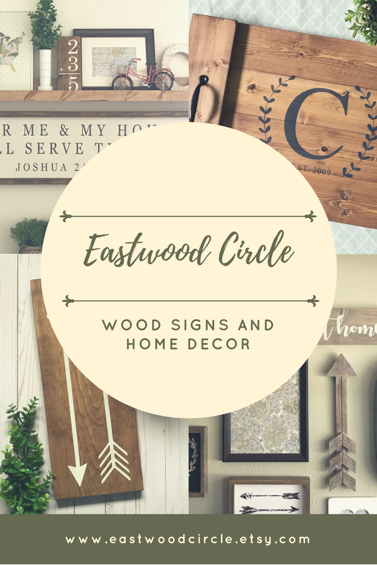 Eastwood Circle, home decor, wood signs, wooden signs, farmhouse ...