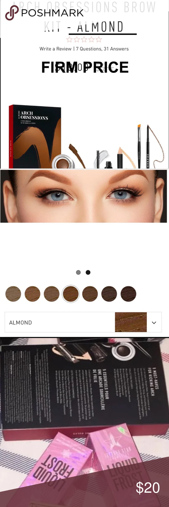 Morphe 5 Piece Brow Set In Almond No Lowest No Trades No Questions Brand New Never Used Set Includes Angled Bro Brow Gel Brow Brush Things To Sell @anastasiabeverlyhills brow wiz in dark brown eyeshadows: morphe 5 piece brow set in almond no