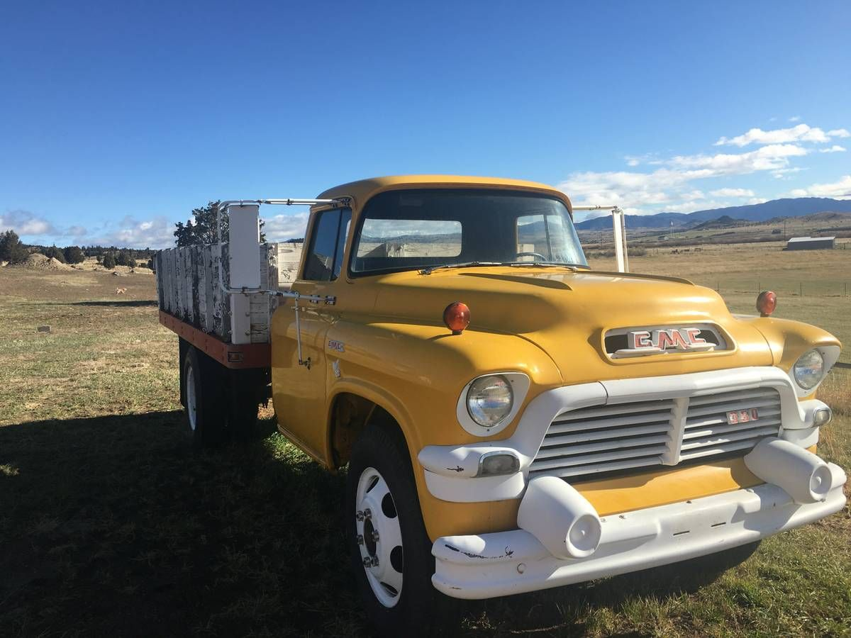 1957 Gmc 1 1 2 Ton Truck With Dump Bed Big Trucks Trucks Monster Trucks