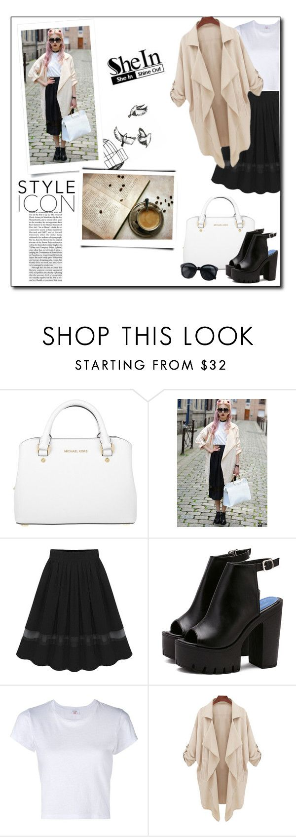 """SheIn 3/3"" by smajicelma ❤ liked on Polyvore featuring Michael Kors, RE/DONE and daria"