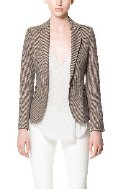 Houndstooth Blazer Blazers Woman Zara United States Houndstooth Blazer Blazers For Women Casual Fashion