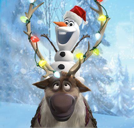Olaf And Sven Wish You A Merry Christmas Disney Movie Rewards Disney Christmas Disney Wallpaper