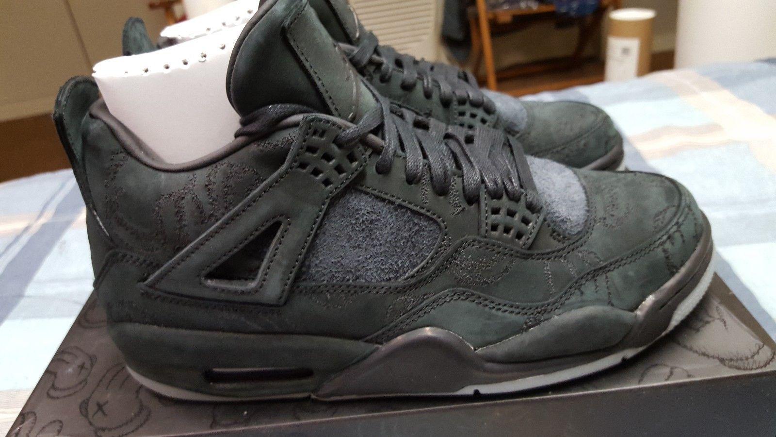 9f11dca8683e6d 100% Authentic KAWS x Nike Air Jordan 4 Black U.S. size 8 Plush Crep Markk  Ikea