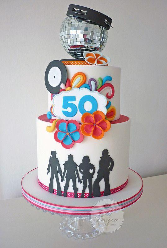 ABBA 50th birthday cake  Torten  Motivtorten  Kuchen Fondant und Torten