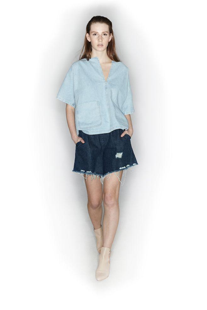 RACHEL COMEY, Rogue Shorts, Indigo |
