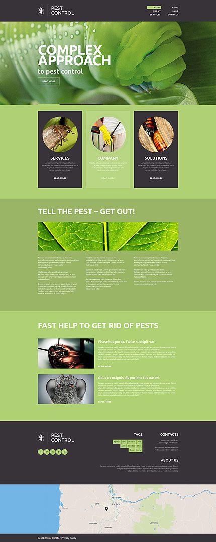 Template 49152 Pest Control Responsive Website