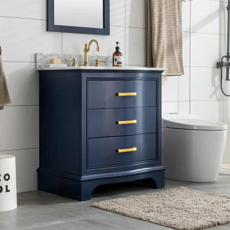 Goleta 30 Single Bathroom Vanity Set In 2020 Blue Bathroom Vanity Single Bathroom Vanity Vanity Set