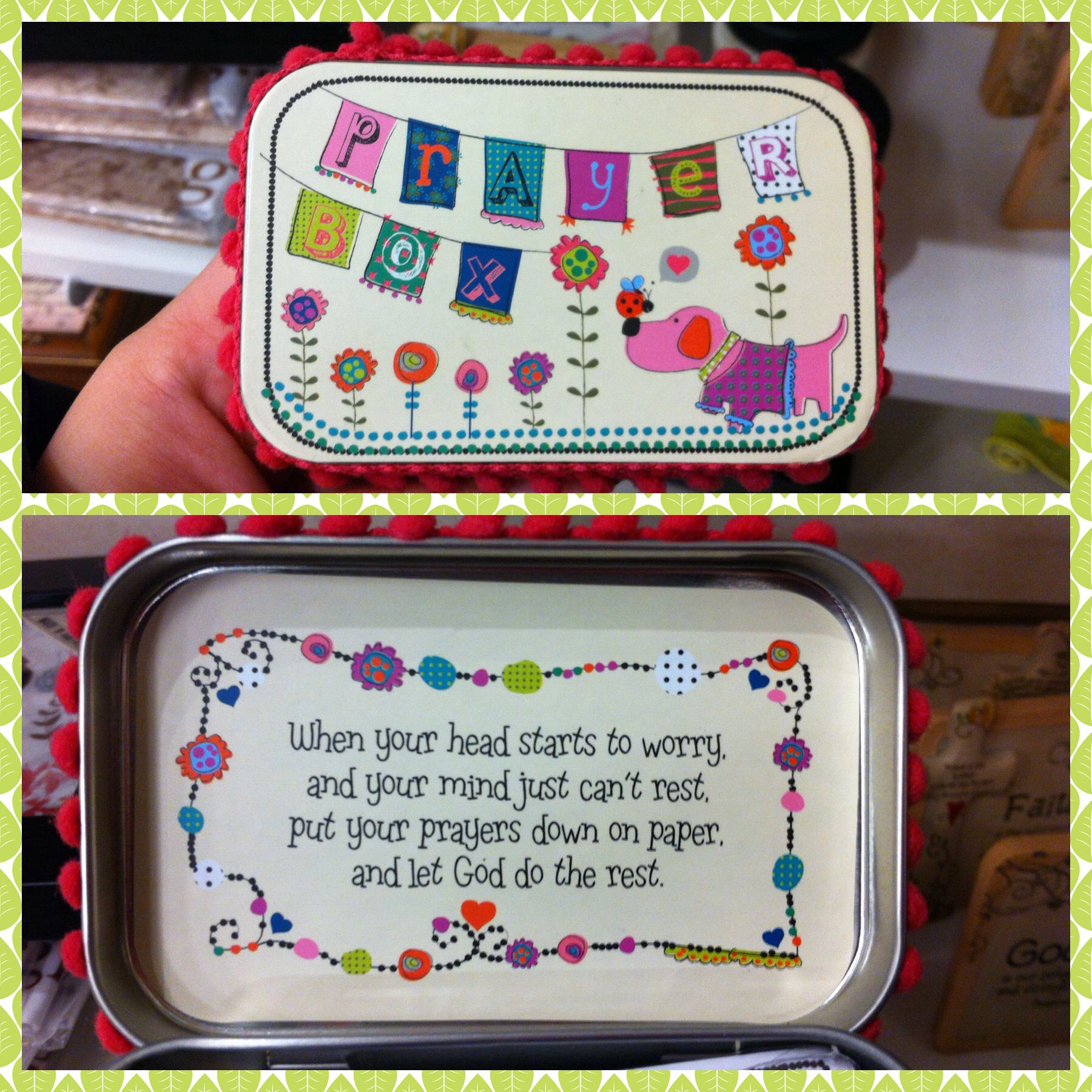 Recycle an empty altoid tin into a prayer box diy for Tin projects