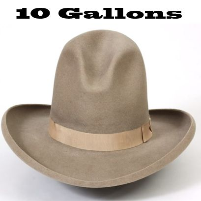 "42ab623965c3d5 The ""10 Gallon Hat"" name came from a mistranslation of the Mexican phrase "" ten galón hats"". A galón is Spanish for braid, where men wearing sombreros  would ..."