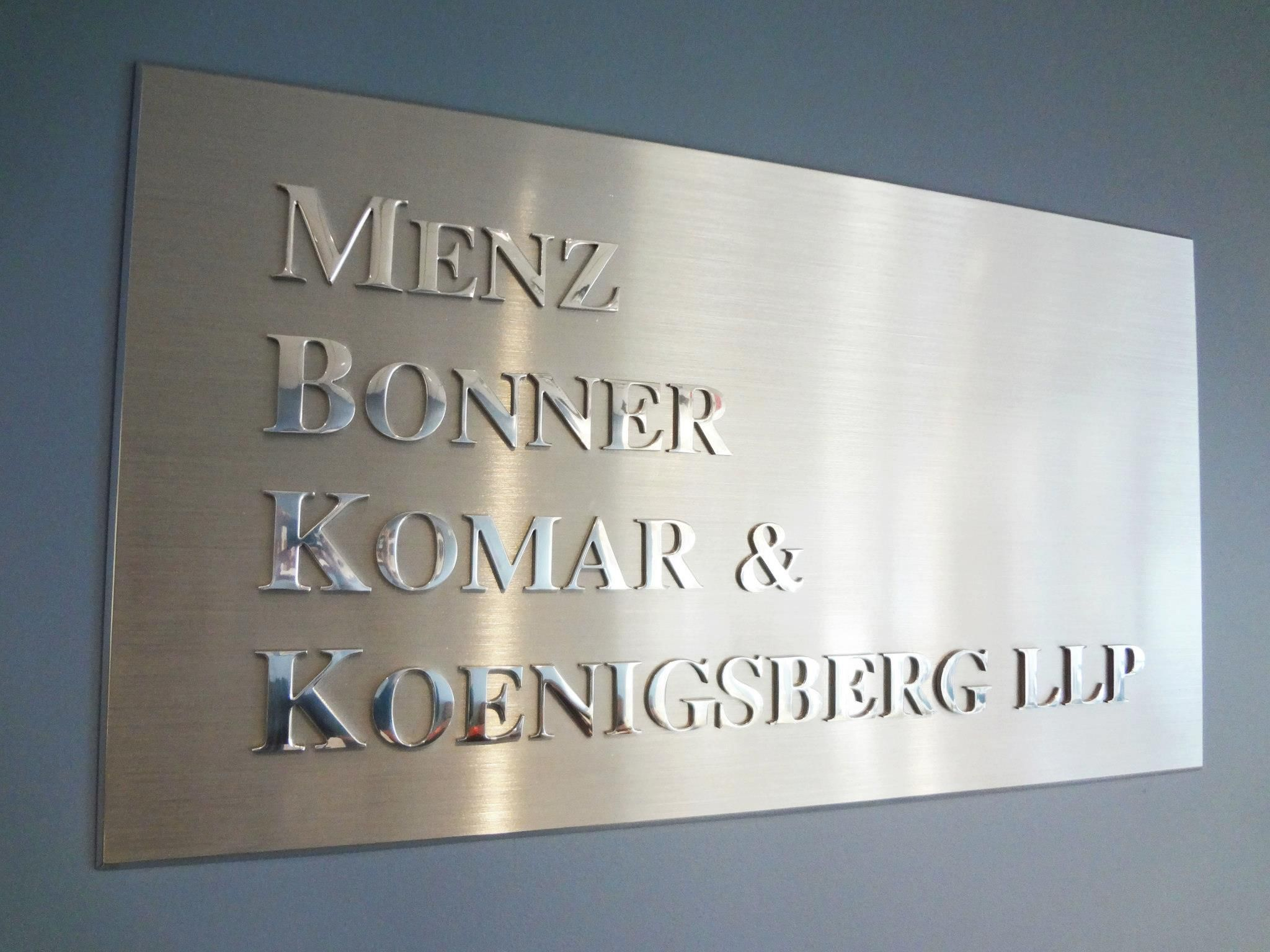 Custom Brushed Aluminum Metal Plaque NYC   We Specialize In Custom Metal  Signs In New York