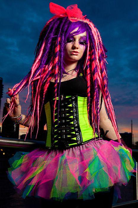 Colorful costume - neon -
