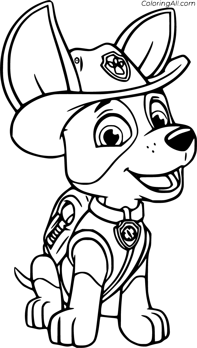 8 Free Printable Tracker Paw Patrol Coloring Pages In Vector Format Easy To Print From Any Paw Patrol Coloring Paw Patrol Coloring Pages Puppy Coloring Pages