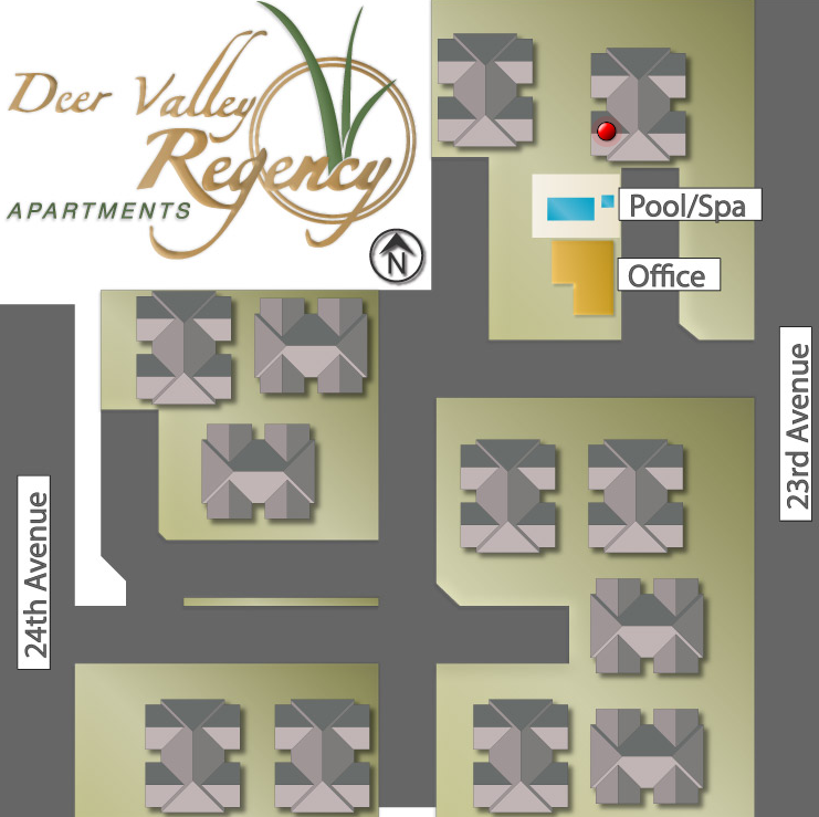 Apartment Community: Site Map For Deer Valley Regency • 21220 North 23rd Avenue
