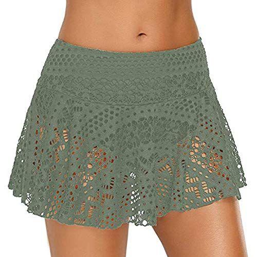 b806a06fbb Mnyycxen Womens Plus Size Crochet Lace Skirted Solid Bikini Swimsuit Bottom  Swim Skirt, #Ad #Crochet, #Ad, #Lace, #Skirted, #Mnyycxen