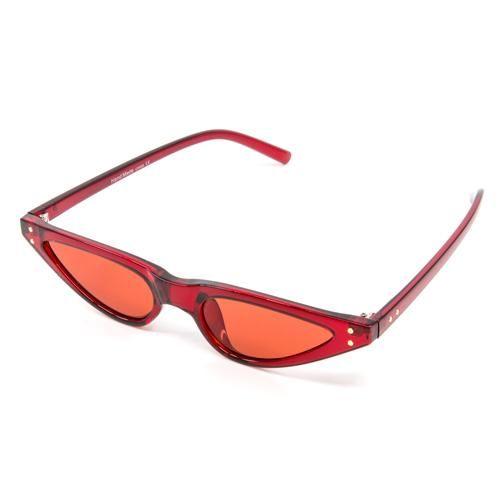 10801feb49f ... Wynwood Shop. Red Skinny Vintage Styled Sunglasses
