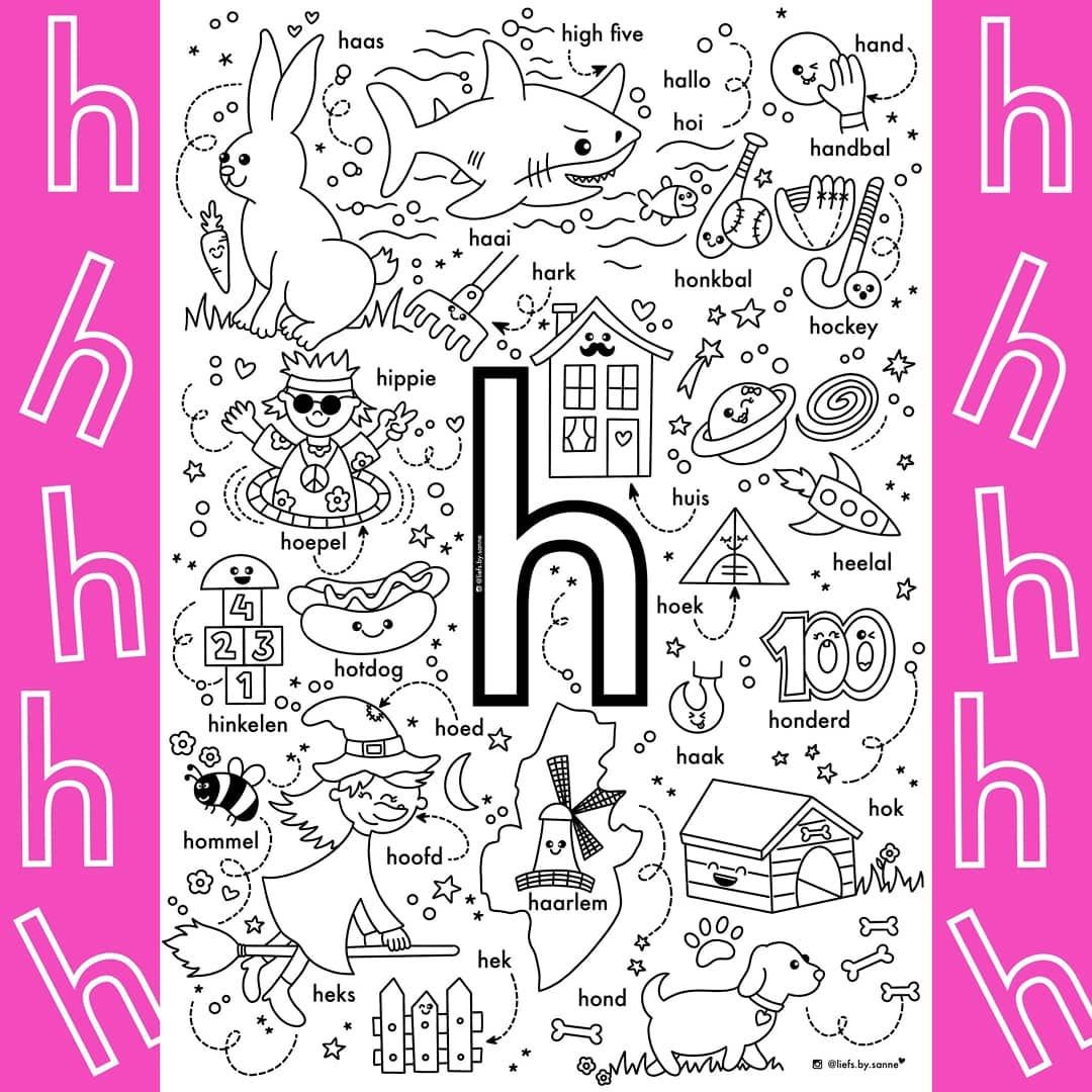 72 Vind Ik Leuks 11 Opmerkingen Sanne Anneveldt Liefs By Sanne Op Instagram En Dan Zijn We Alweer Bij De Letter H I Lettermuur Letteren Alfabet Boek