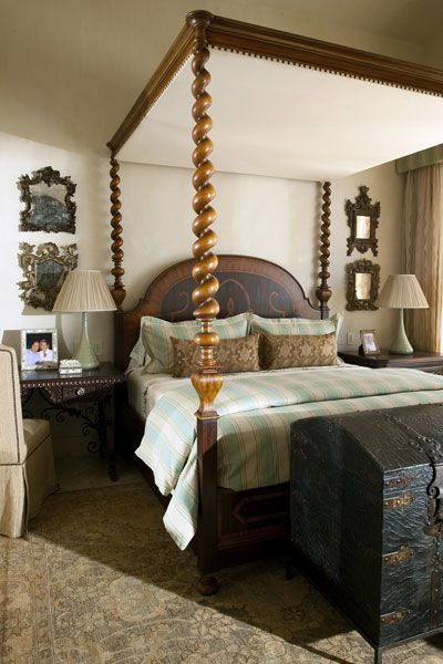 Lombarda Bed By Ebanista Interiors In A Rustic Italian Bedroom Designed Sandra Espinet