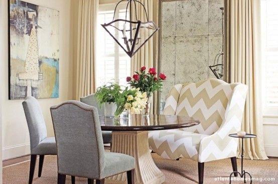 Love Me That Chevron Chair Settee Dining Home Decor