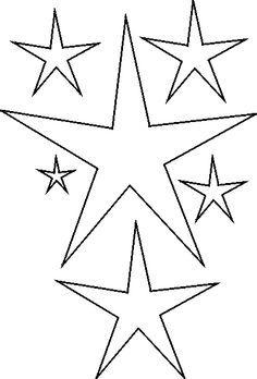 Zany image within stars stencil printable