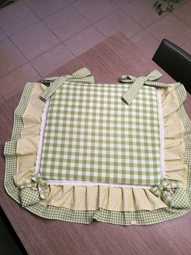 Cuscino sedia verde mela..Lilly cucito❤✂ | Cuscini per
