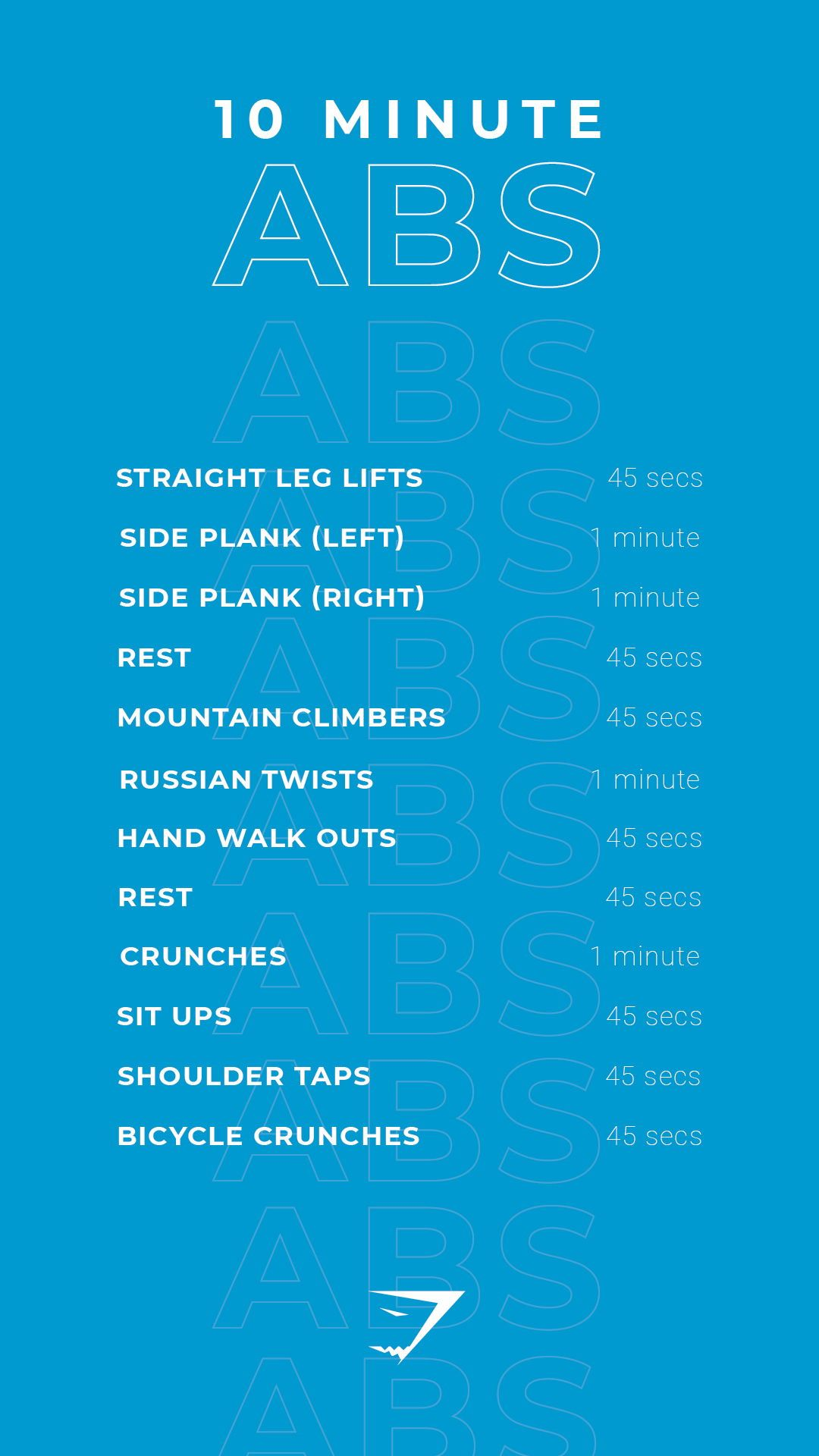 10 Minute Abs! Theres no excuses for missing your workout, with these quick and easy 10 minute exercises. It can be completed at home or at the gym. Let's smash those fitness targets, together! #Gymshark #Workout #Fitness #Gym #Challenge #Exercise #cheerworkouts
