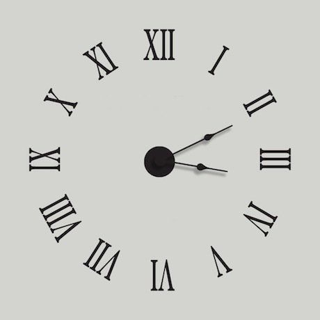 Special Offers Roman Numeral Wall Decal Clock In Stock