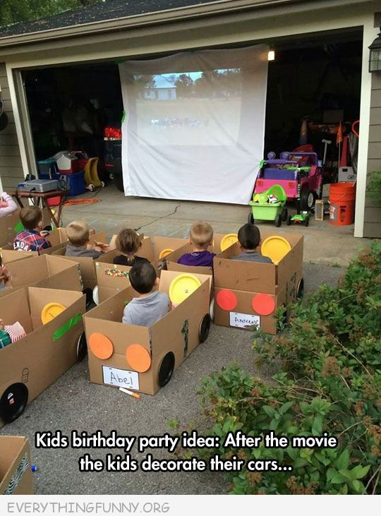 Funny do it yourself kids drive in movie with cardboard box cars funny do it yourself kids drive in movie with cardboard box cars solutioingenieria Choice Image