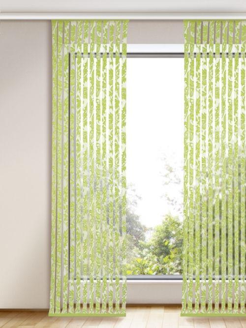 Eleganter Flächenvorhang Für Die Fensterdekoration In Grün