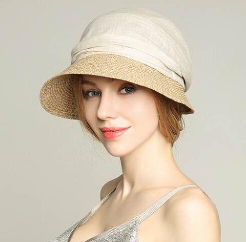 Summer sun hat for women straw wide brim bucket hats