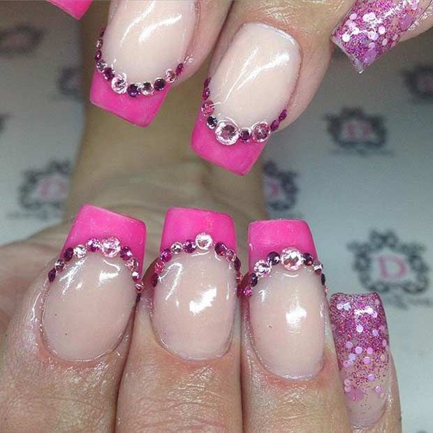 31 Cool French Tip Nail Designs Lipstick Colors And Makeup