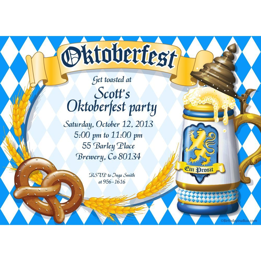Wonderful Oktoberfest Party Invitation Sample Design Oktober