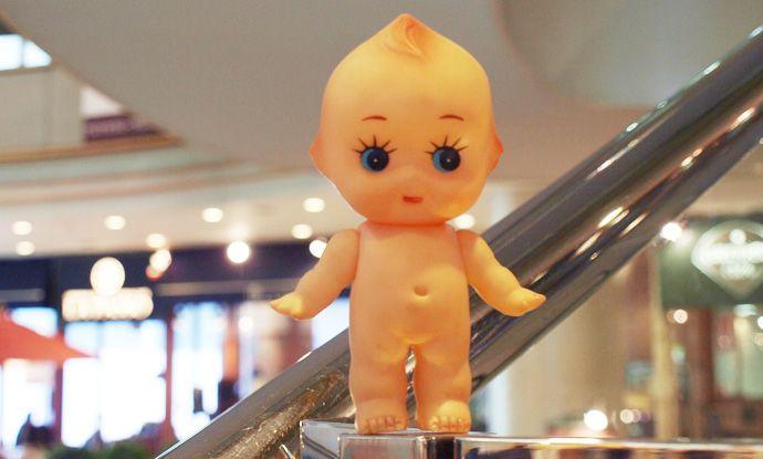 ミニサイズのキューピー人形