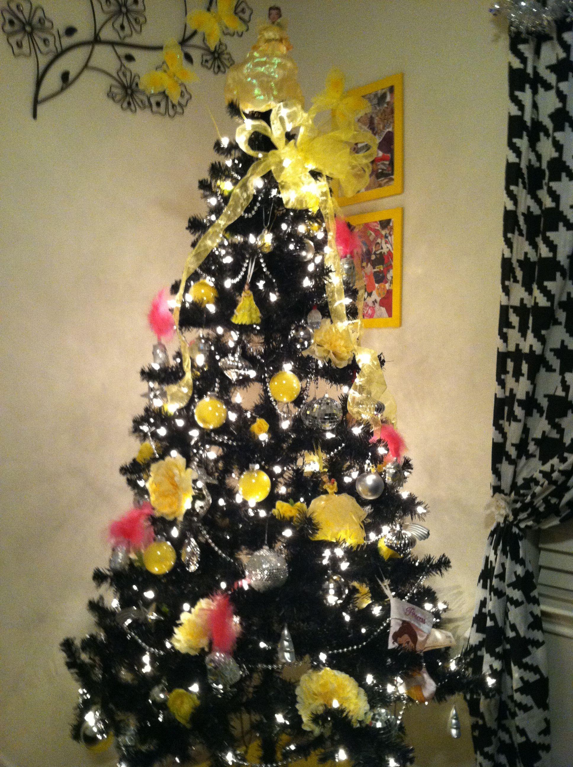 My Christmas Tree I Absolutely Love Black Ad Yellow Christmas Tree Themes Christmas Tree Black Christmas Trees